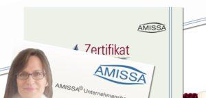 Visitenkarte und Zertifikat