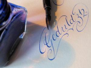 Handschrift Geduld