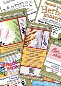 Plakate und Anzeigen Musikschule Unterschleißheim