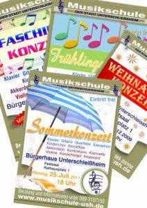 Plakate Musikschule Unterschleißheim