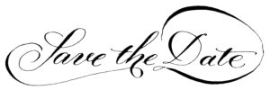 """Handschrift """"Save the Date"""""""
