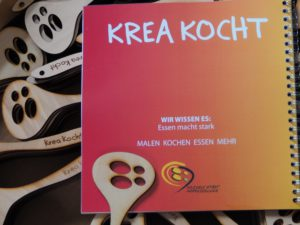 Lasercut Kochlöffel im Logodesign Soziale Stadt Oberschleissheim