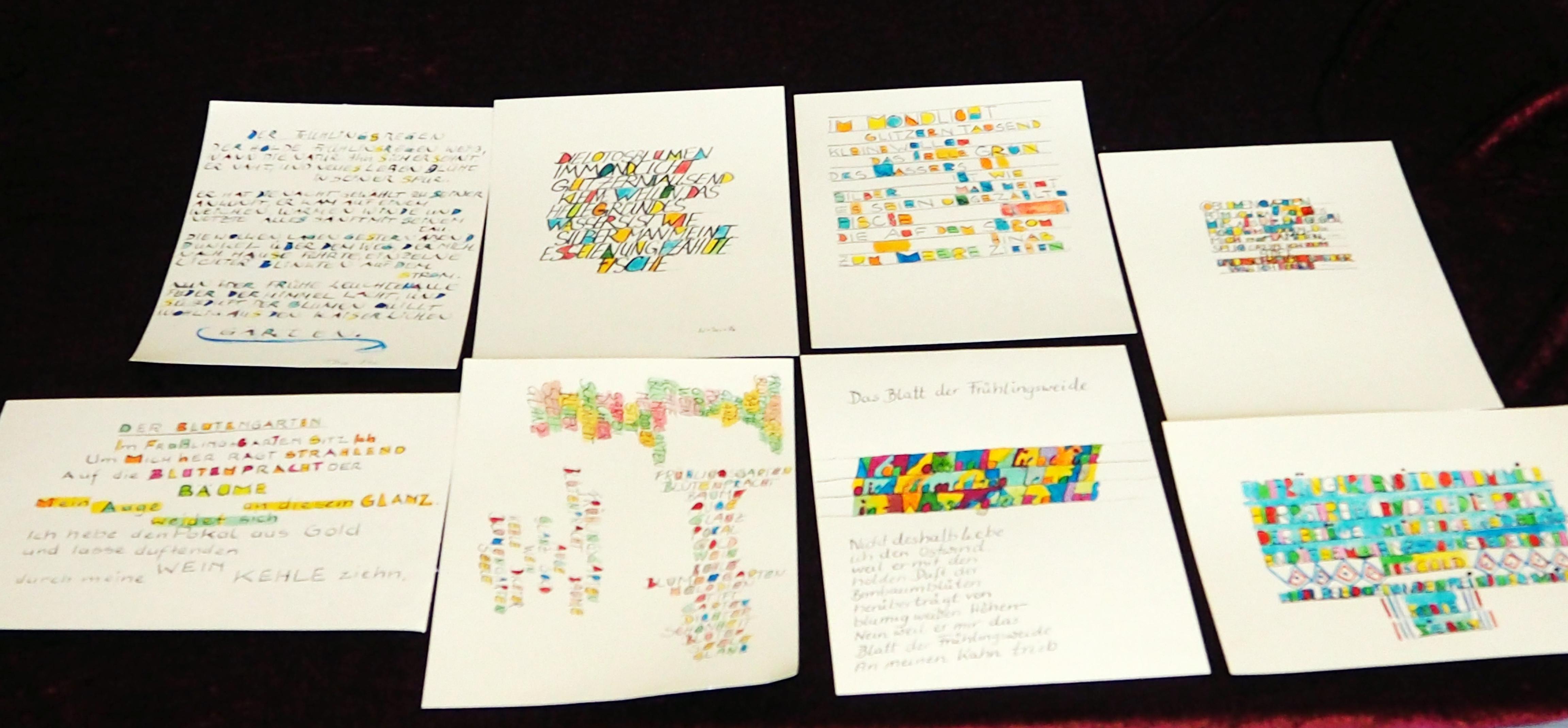 Schriftbilder. Ergebnisse vom Workshop mit Erwachsenen