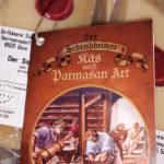"""Logogestaltung für """"Der Schleißheimer"""" Käs nach Parmasan Art und Siegelmarke. Gestaltung eines 8-seitigen Beheiftes zum Käse unter Verwendung des Gemäldes von Klaus Staps. https://www.facebook.com/kuchlbauer.christian/photos/pcb.1431741670237015/1431741103570405/?type=3&theater"""