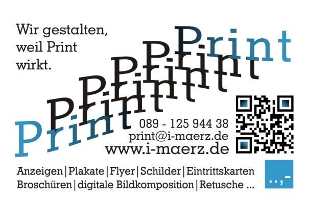 Wir gestalten, weil Print wirkt.