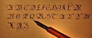 Schriftübung