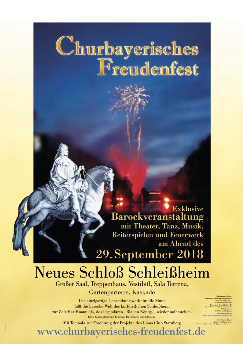 Oberschleißheim, Barock, Churbayerisches Freudenfest, Churbayern, Dr. Marcus Junkelmann, Feuerwerk, Kurfürst Max Emannuel, Oberschleißheim, Schloss Schleißheim, Tanz,
