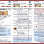 Schleißheimer Advent 2018. Programm. Der Weihnachtsmarkt organisiert von Tourismus Schleissheim e.V. Auf dem Gelände der Flugwerft Schleissheim jeweils am 3. Adventswochenende. Plakatmotiv und Logos wurden gestellt.