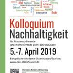 Ankündigung Kolloquium. Wortwolke und Plakatgestaltung. Logo wurde gestellt.