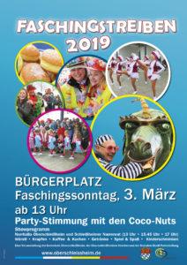 Plakat Faschingstreiben 2019 Oberschleißheim