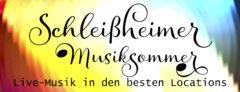 Schleißheimer Musiksommer. Programmflyer, Textlogo, Plakat. Verarbeitete Anzeigen wurden gestellt.
