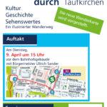 Flyer. Vorstellung der neuen Wanderkarte von Taufkirchen.