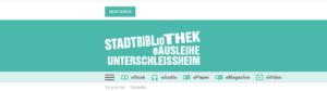 Schriftzug als Textlogo für Redesign der eAusleihe Stadtbibliothek Unterschleissheim