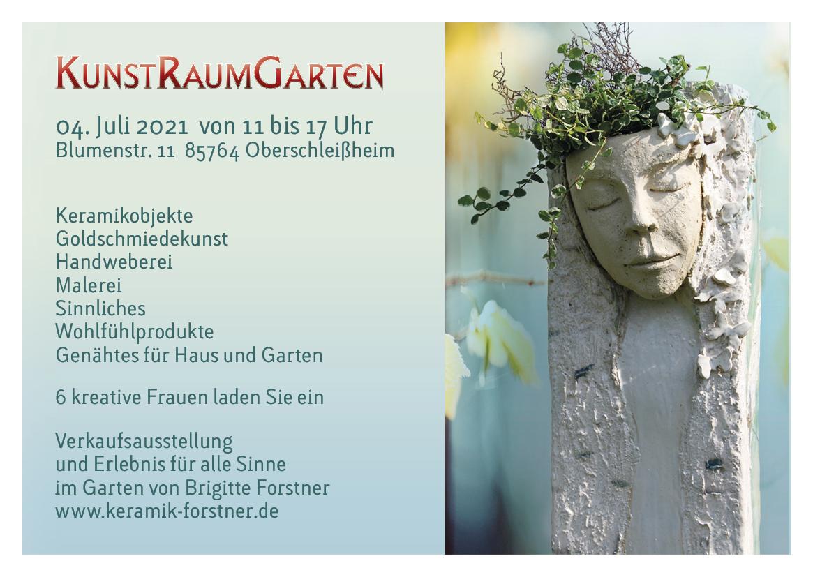 KunstRaumGarten Info 04. Juli 2021